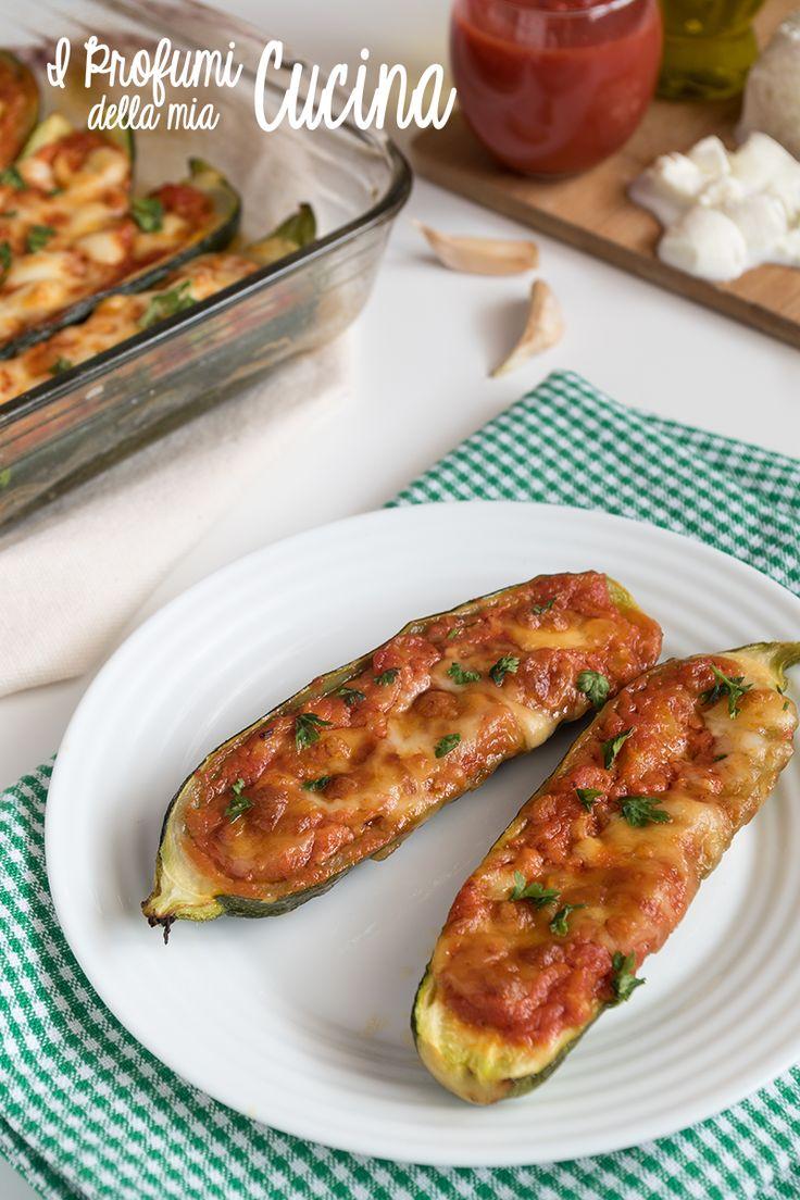 #Zucchine al #pomodoro con mozzarella di bufala