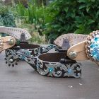 Aquamarine and Blue Zircon Spurs and Spur Straps ~ Bling Horse Tack from Jozee Girl Designs