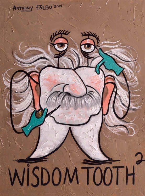 Wisdom Tooth 2 Dental Art Print Dentist Office Art by falboart