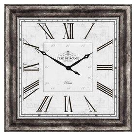 40 X 40-in Traditional Silver Roman Numeral Clock $130