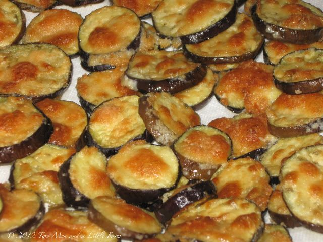 Great alternative to fried version. By: Two Men and a Little Farm: OVEN ROASTED EGGPLANT RECIPE