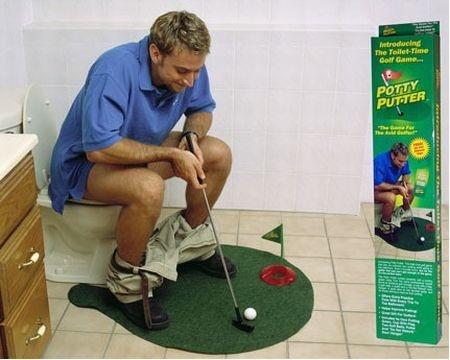 あなたのトイレがゴルフ場に – Potty Putter -