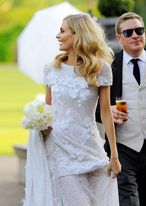 Celebrity Wedding Dresses Poppy Delevingne Chose A Stunning Vintage Style Dress