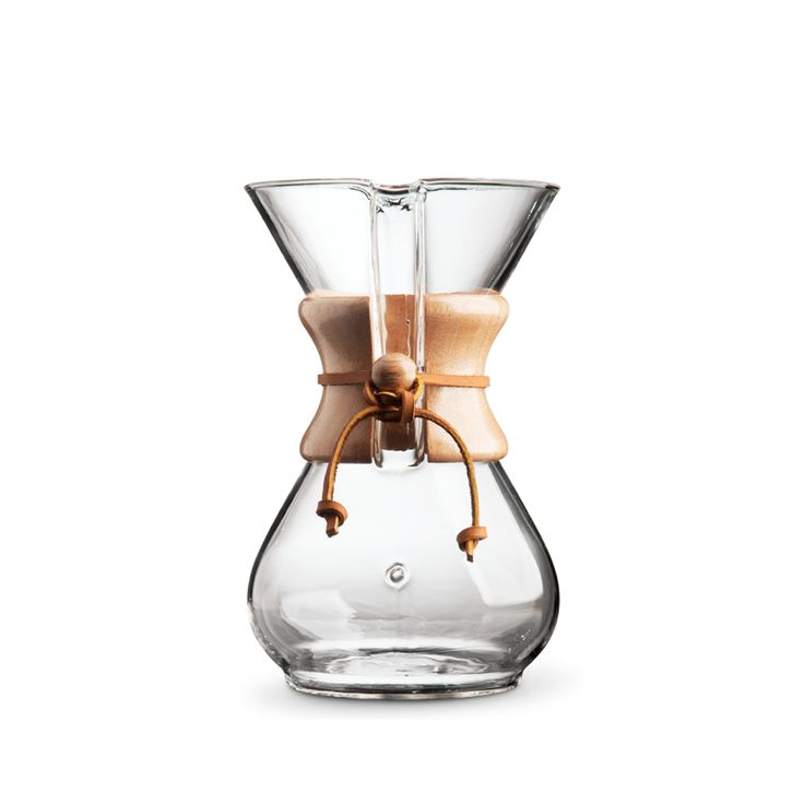 "Chemex 6-Cup Pour-Over ""Classic"" Series Glass Coffee Maker"