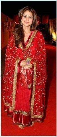 Bollywood Inspired- Urmila Matondkar Red Colour Net Salwar Kameez