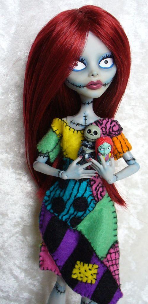 Monster High custom – Sally from Nightmare Before Christmas by redmermaidwerewol