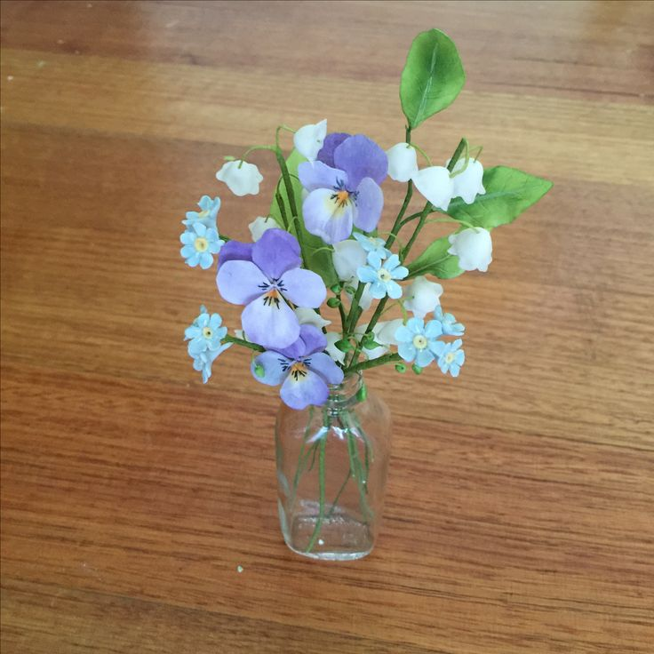 Little bouquet of VIOLETS, FORGET-ME-NOTS & LILLY OF THE VALLEY by Sugar Florist