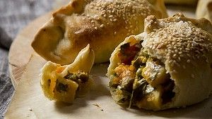 Karen Martini recipes - i know what you like  LAMB AND VEGETABLE AND GRUYERE PASTIE WITH OLIVE OIL PASTRY  Photography by Marcel Aucar Styling by Karina Duncan