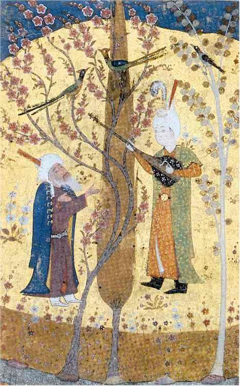 Giovinezza e vecchiaia - Tabriz - 1530 ca. Miniatura iraniana