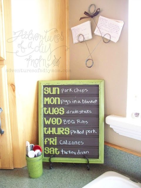 Love this #DIY Chalkboard Paint Menu Board created with Lullaby Paints!