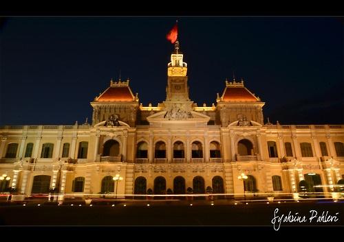 Ho Chi Minh City at Night Photo by Me..