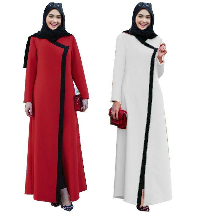 women long sleeve muslim arabic dress turkish gown Dubai moroccan Kaftan Islamic Abaya women arabic clothing //Price: $43.36 & FREE Shipping //     #islamicwear