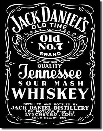 Jack Daniels Bottle Label Black Tin Sign by Poster Revolution. $9.39. tin signs are new and may have a vintage or distressed appearance. ships quickly and safely in a protective envelope. professional quality metal / tin sign. enameled paint is attractive and very durable. measures 12.50 by 16.00 inches. Jack Daniels Bottle Label Black Tin Sign. Save 62%!