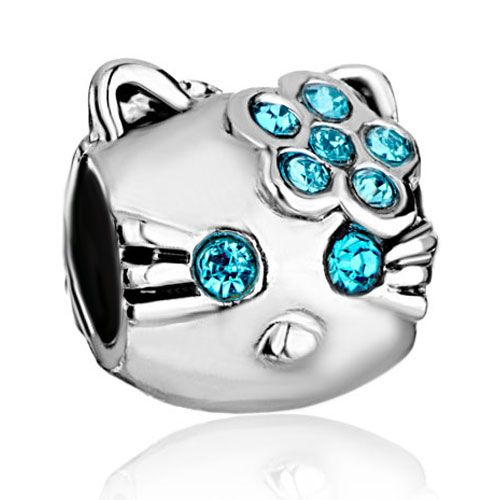 November Birthstone Cat Dog Paw Print 925 Sterling Silver Charms Animal Bead Yellow CZ for Bracelets Women Mother's Day Gifts Jewellery La0yIQoL