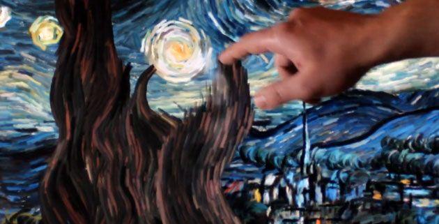 Van Gogh's Starry Night Interactive | Petros Vrellis
