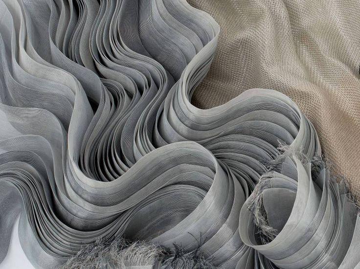 Fabric Manipulation - sculptural textile design with undulating structure; fabric textures; textiles for fashion // Statira Jazayeri
