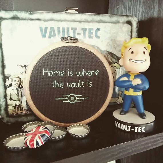 Hey, I found this really awesome Etsy listing at https://www.etsy.com/listing/240003162/vault-tec-fallout-cross-stitch-home-is