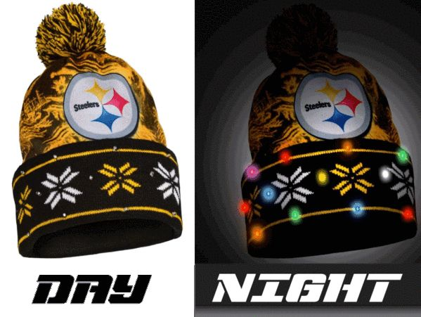 Pittsburgh Steelers NFL Big Logo Light Up Printed Beanie (PRE ORDER - SHIPS EARLY DECEMBER)