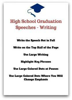 write my graduation speech
