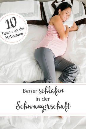 Hebammentipps für besseren Schlaf in der Schwangerschaft.