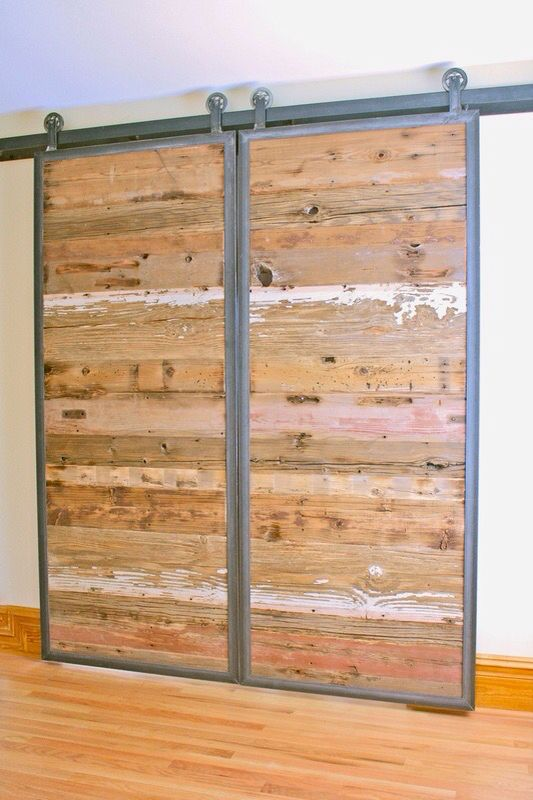 #saturdayrecycling for #greenideas They could inspire someone #reclaimed #barndoor #slidingdoors #handmade #MadeinUSA by Austin Aaron and his Dancing Grains Woodworks in Boulder, Colorado #Gabriella #Ruggieri selection