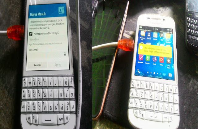 SERVICE ANDROID MEDAN: BLACKBERRY Q 10 LUPA ID...