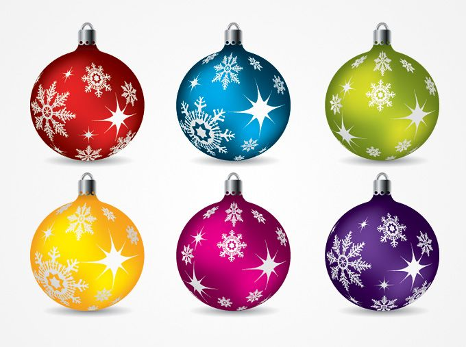 Christmas Ornament Clip Art | Christmas Balls Ornaments Vector Clip Art (Free)