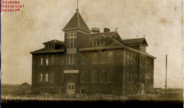 gotebo oklahoma historical images | Gotebo schoolhouse, 1909
