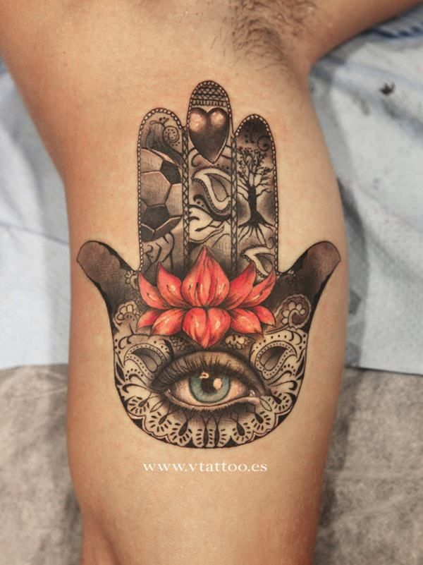 Have you seen a Hamsa tattoo? You probably have. The design is very popular for tattoos, jewelry and other items. Colorful Hamsa tattoos can be stunning pieces of art. A black and gray tattoo can also be very striking though. The design itself evokes a sense of mystery and touches something deep inside people when