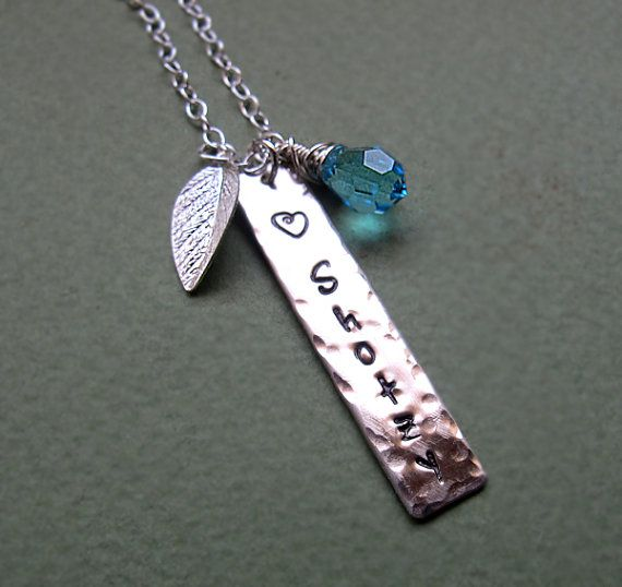 Personalized Rectangle Bar Necklace - Engraved Custom Necklace
