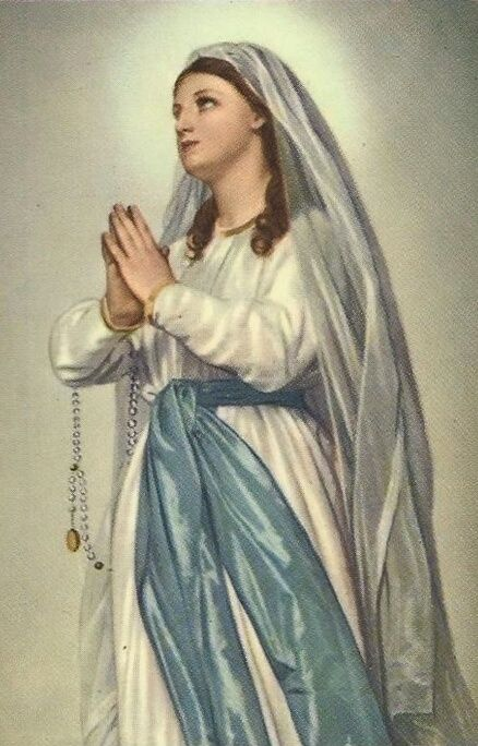 Madonna di Lourdes An Italian image of Our Lady of...