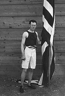 James B. Connolly (United States), winner of the hop, step, and jump (the first final event in the 1896 Olympics), was the first Olympic champion of the modern Olympic Games.