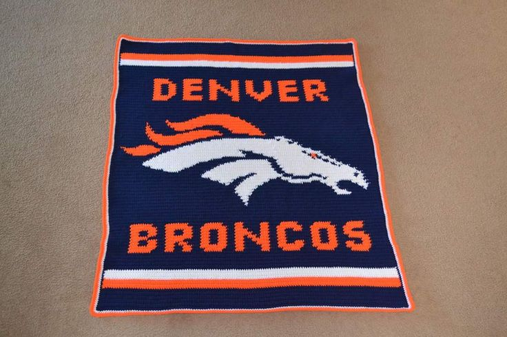Denver Bronco Crochet Patterns Free | Denver Broncos afghan I just finished for a friend's baby shower. Made ...