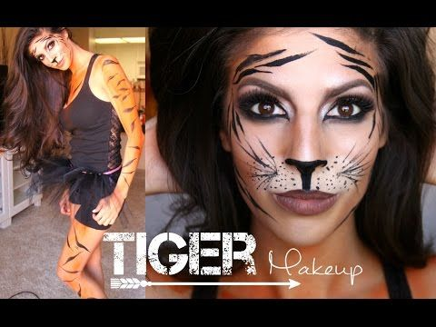 Tiger Makeup Tutorial + Outfit | Halloween 2014 - YouTube