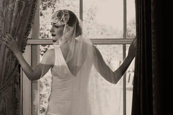 1920s and 1930s vintage wedding, Lansborough Hotel, Ugo Zaldi wedding dress