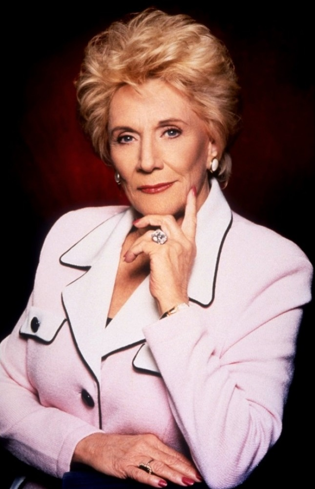 """The legendary Jeanne Cooper who portrays the role of Katherine Chancellor on """"The Young And The Restless"""" from 1973-present!! She's amazing!"""