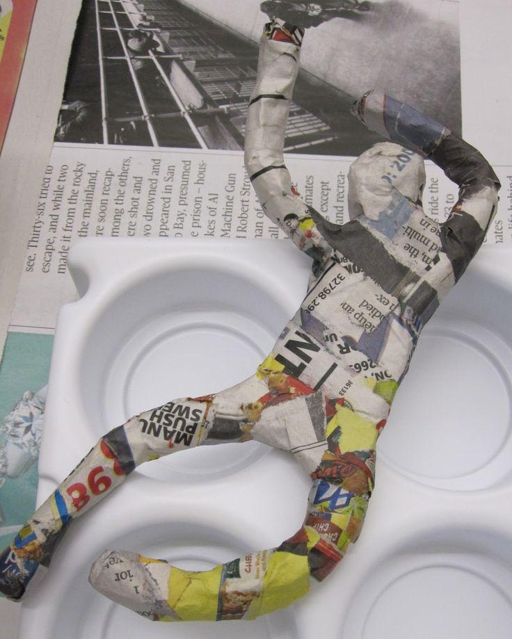 220 best images about art lesson ideas paper mache for Paper mache activities
