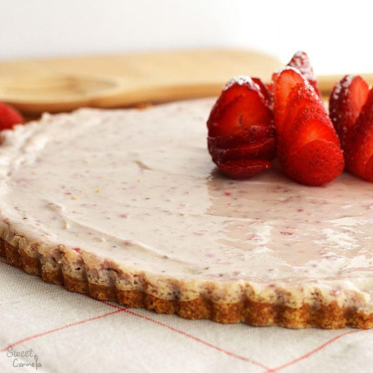 Strawberry Tofu Cheesecake – Cheesecake de Tofu y Fresas
