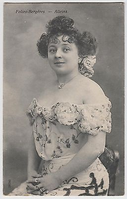 FRENCH-POSTCARD-actress-dancer-Alleins-Folies-Bergeres-Paris-risque-costume