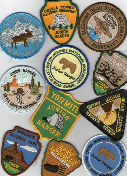 National park patches. Wish I had collected these as a kid. Need to do this with my kids.