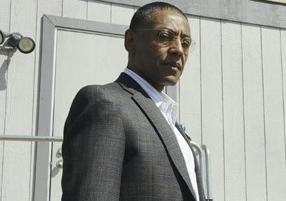 Gustavo Fring of Breaking Bad, Seriously the best damn character on the best show ever. Giancarlo Esposito should get all the awards.
