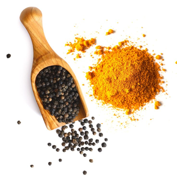 Turmeric   black pepper - Sometimes teaming up two power foods is better than one