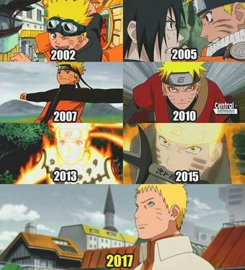 Naruto ❤ Está mal!!!!Naruto se estrenó en el 2008
