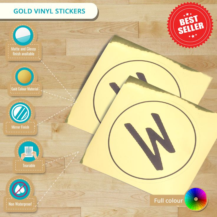 Infographic featuring gold vinyl stickers check out the best deal we can offer