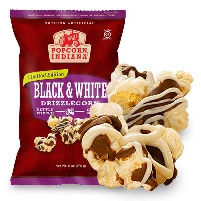 Black & White Drizzlecorn | Whole Grain, Gluten Free Popcorn and Chips | Popcorn, Indiana