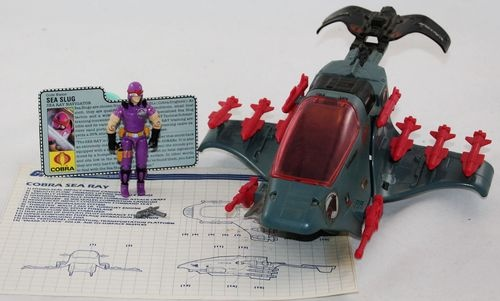 Gi Joe Cobra Sea Ray Sea Slug 1987 FC Blueprints Vintage | eBay