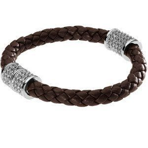 Michael Kors MKJ1473 Women's Brown Braided Leather Silver Tone Pave Crystals Bracelet Jewelry Michael Kors. $102.00. Michael Kors MKJ1473 Women's Brown Braided Leather Silver Tone Pave Crystals Bracelet Jewelry