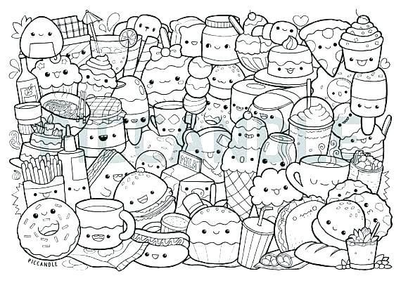 Colouring Pages Food Pusat Hobi Cute Coloring Pages Food Coloring Pages Cute Doodle Art