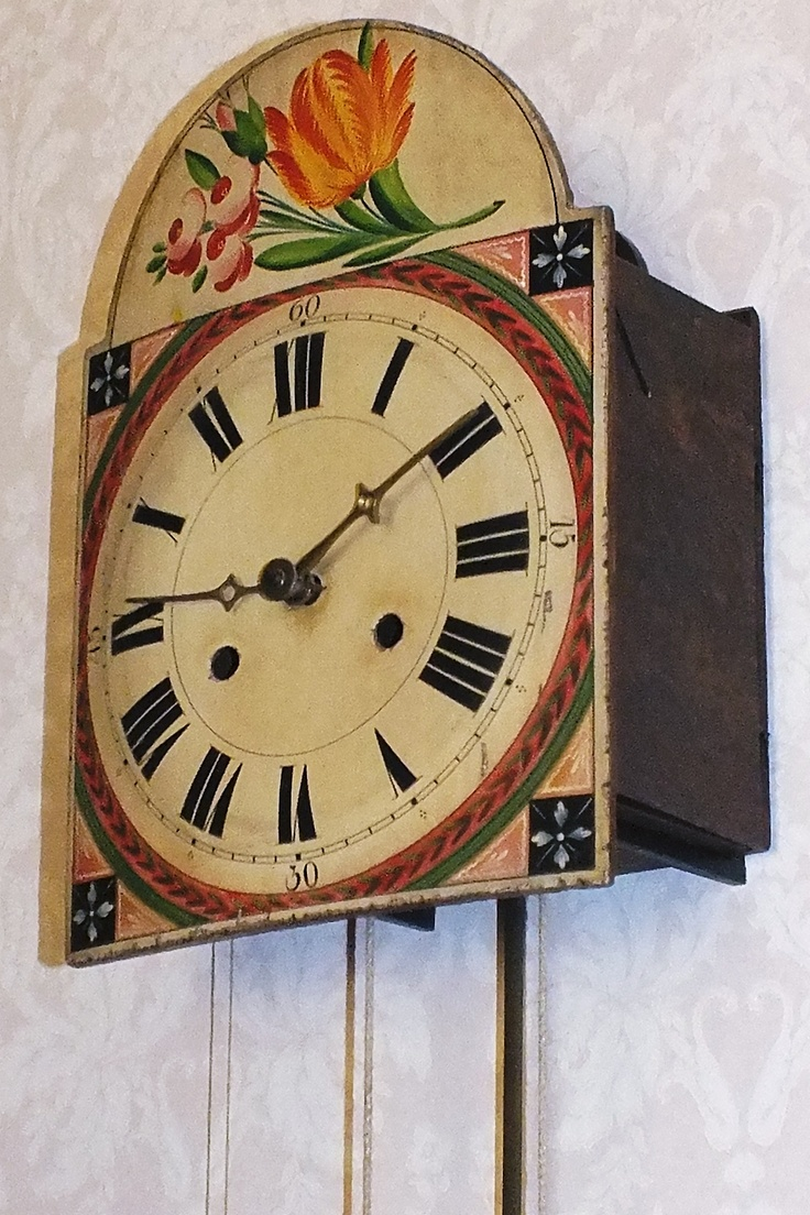 8 days running on two wights Schwarzwalder 1850 German clock by Will Sanders Mangumwhitehouse Bed and Breakfast  and Clock Shop