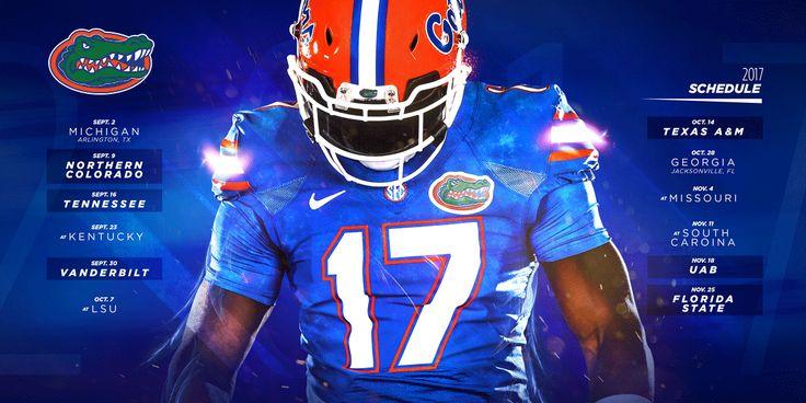 2017 Florida Gators Football Schedule Release on Behance